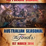 Australian Seasonal : Heroes of Newerth Tournament Sponsorship Poster