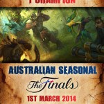 Australian Seasonal : Heroes of Newerth Tournament Sponsorship Finals Poster