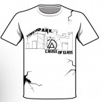 Linkin Park Castle of Glass White Shirt Mockup #2