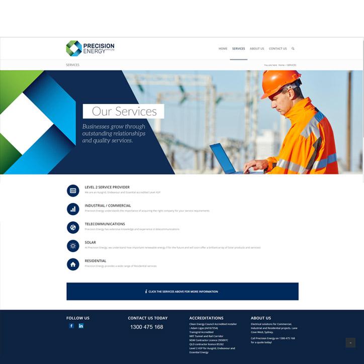Precision Energy Website Design