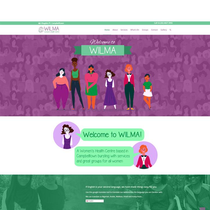 WILMA Website Design